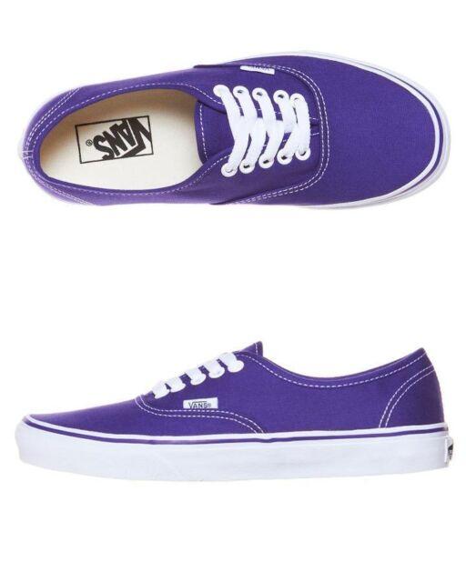 16e563e4a8 Vans Shoes Authentic USA SIZE Purple Iris True White Skate Board Surf FREE  POST