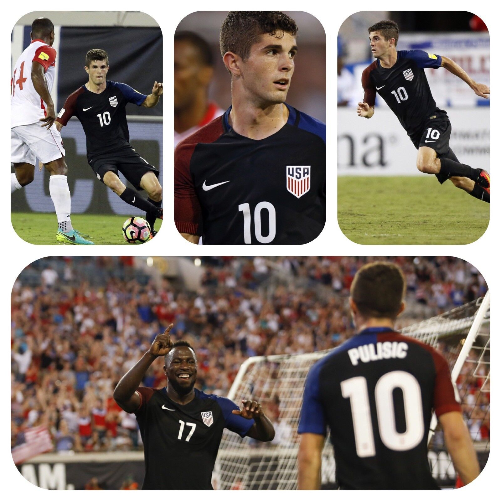 NIKE USA MENS SOCCER NATIONAL TEAM 16 17 AWAY PULISIC LS PLAYER ISSUE M