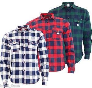 Jacksouth-Men-Casual-Shirt-Flannel-Lumberjack-Cotton-Shirts-Top-Size-S-to-2XL