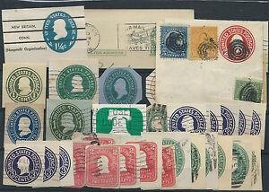 1897-1927-USA-STATI-UNITI-LOTTO-RITAGLI-DI-INTERI-D-6062