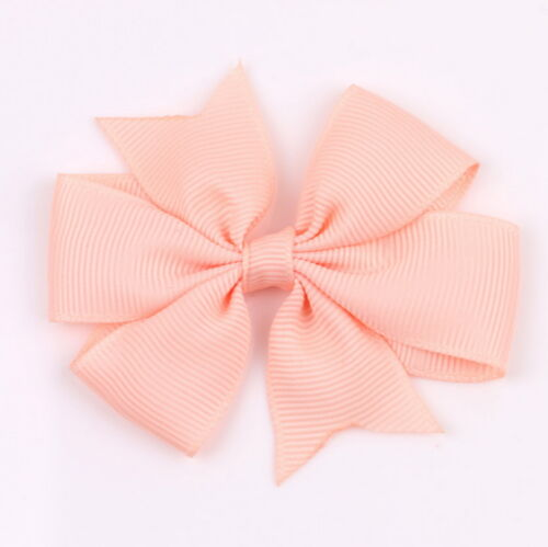 """20 Colors Baby Girls Kids 3/"""" Grosgrain Ribbon Boutique Hair Bows Alligator Clips"""