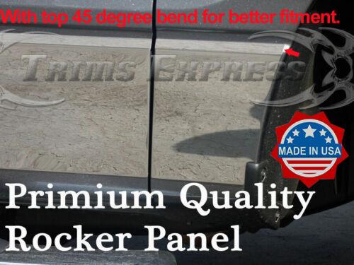 PREMIUM 09-14 Ford F-150 Super Cab Short Bed Rocker Panel Trim Stainless Steel