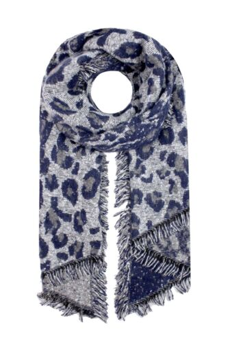 Animale Leopardo Stampa Sciarpa Scialle Lungo Grande Caldo Soft Winter Autunno 230x65 cm