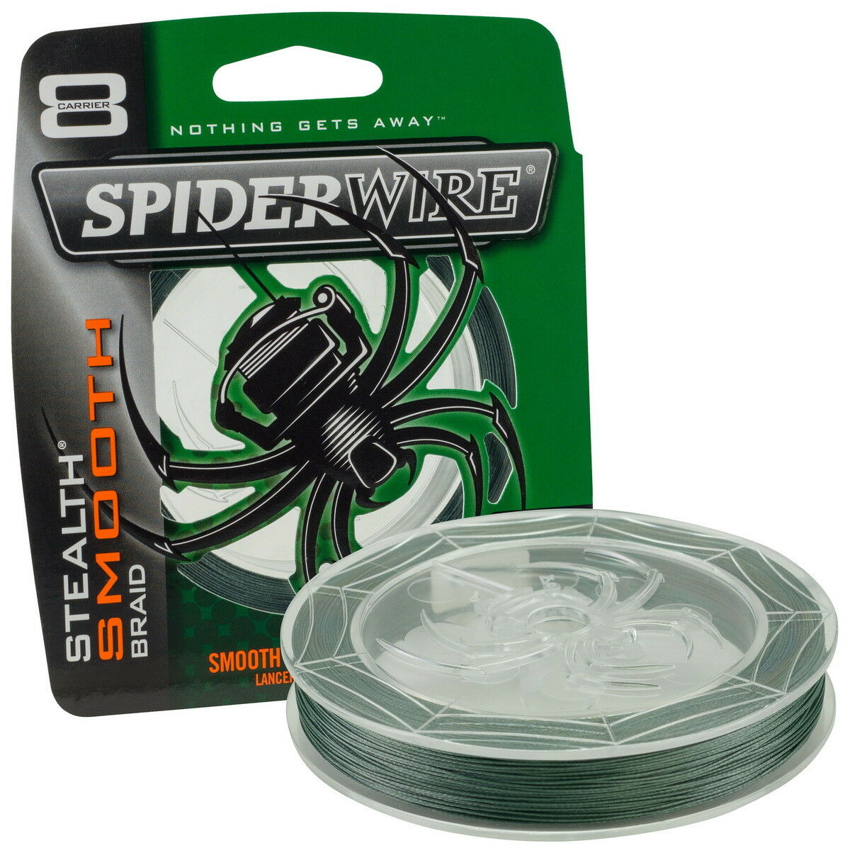 SpiderWire Stealth Smooth 8 Moss Grün 0,12 mm 3000 m, m, m, geflochtene Angelschnur 12f536