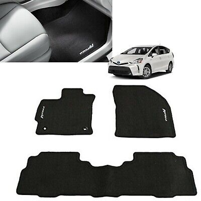 4 Piece 4PC Rubber Front Rear Tray Car Mats Set For Toyota Prius 2015 On