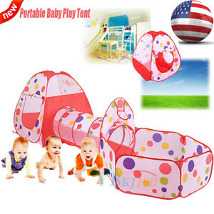 Image is loading Hot-Children-Baby-Kids-Play-Tent-Tunnel-Toddler-  sc 1 st  eBay & Hot Children Baby Kids Play Tent Tunnel Toddler Play House Indoor ...
