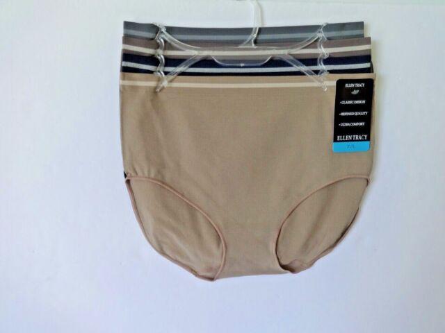 Ellen Tracy Essentials Womens Seamless Briefs 4-Pack Panties