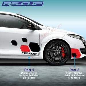 Details About 1409 Sticker Racing Renault Sport Megane Clio Twingo Rs Aufkleber Rouge Et Noir