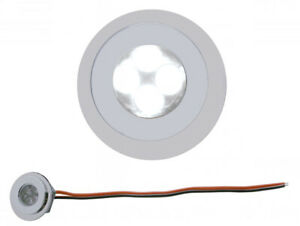 4-LED-Fastener-Light-Round-White-Chrome-Super-Bright-Universal-Hot-Rod