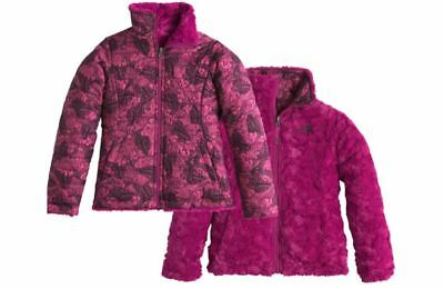 The North Face Girls Reversible Mossbud Swirl Jacket Roxbury Pink Butterfly LG