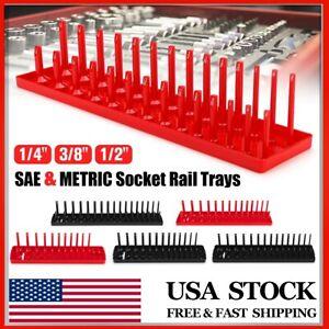 "SAE Metric SOCKET TRAY RACK STORAGE HOLDER Plastic Organizer Fits 1//2/"" 3//8/"" 1//4/"""