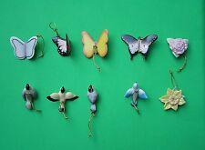 LENOX SPRING 10 miniature Tree Ornaments set NEW in BOX Birds Butterfly Flowers