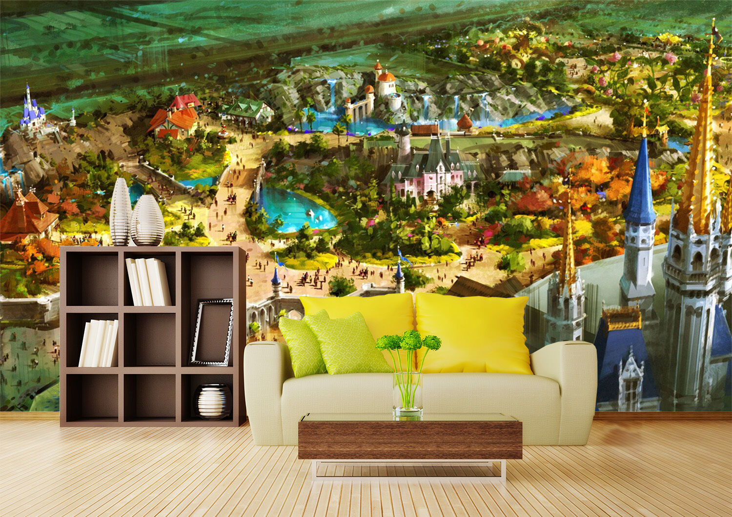 3D Castle Paradise 1367 Paper Wall Print Wall Decal Wall Deco Indoor Murals