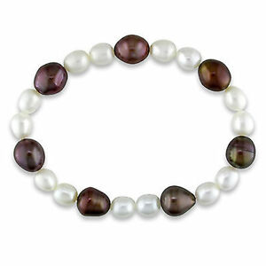 Amour-Cultured-Freshwater-6-9-mm-White-and-Brown-Pearl-Elastic-Bracelet-7-034