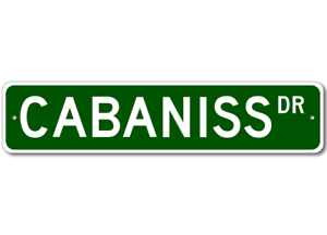 CABANISS-Street-Sign-Personalized-Last-Name-Sign