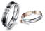 Anello-Fede-Fedina-Fascia-Uomo-Donna-Unisex-Acciaio-Oro-Nero-Cristal-Idea-Regalo miniatura 1