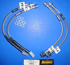 Russell 692010 Stainless Steel Braided Brake Line Hose Kit Corvette 1984-87
