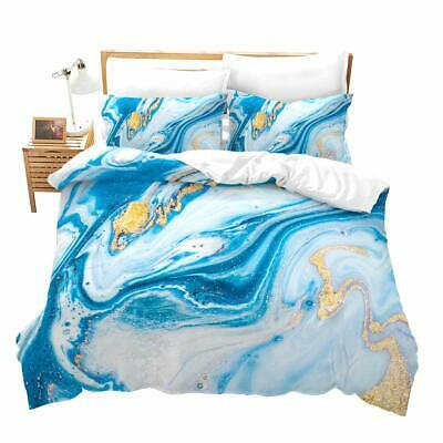 Chic Girly Marble Duvet Cover Twin Marble Printed Bedding Sets Gold Glitter Turq Ebay