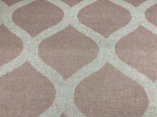 Hall Ikat  Blush Pink Linen//Cotton  140cm wide Curtain//Craft Fabric