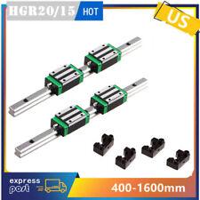 2pcs Hgr2015 Linear Guide Rail4pcs Hgh20ca15ca Slider Block Amp 4limit Block Uk