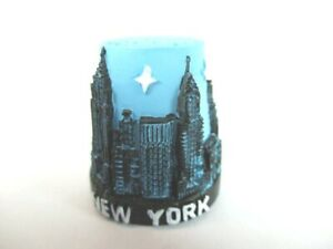 KüHn New York Fingerhut Thimble Poly,empire State Building,freiheitsstatue,chrysler Klar Und GroßArtig In Der Art Reiseaccessoires