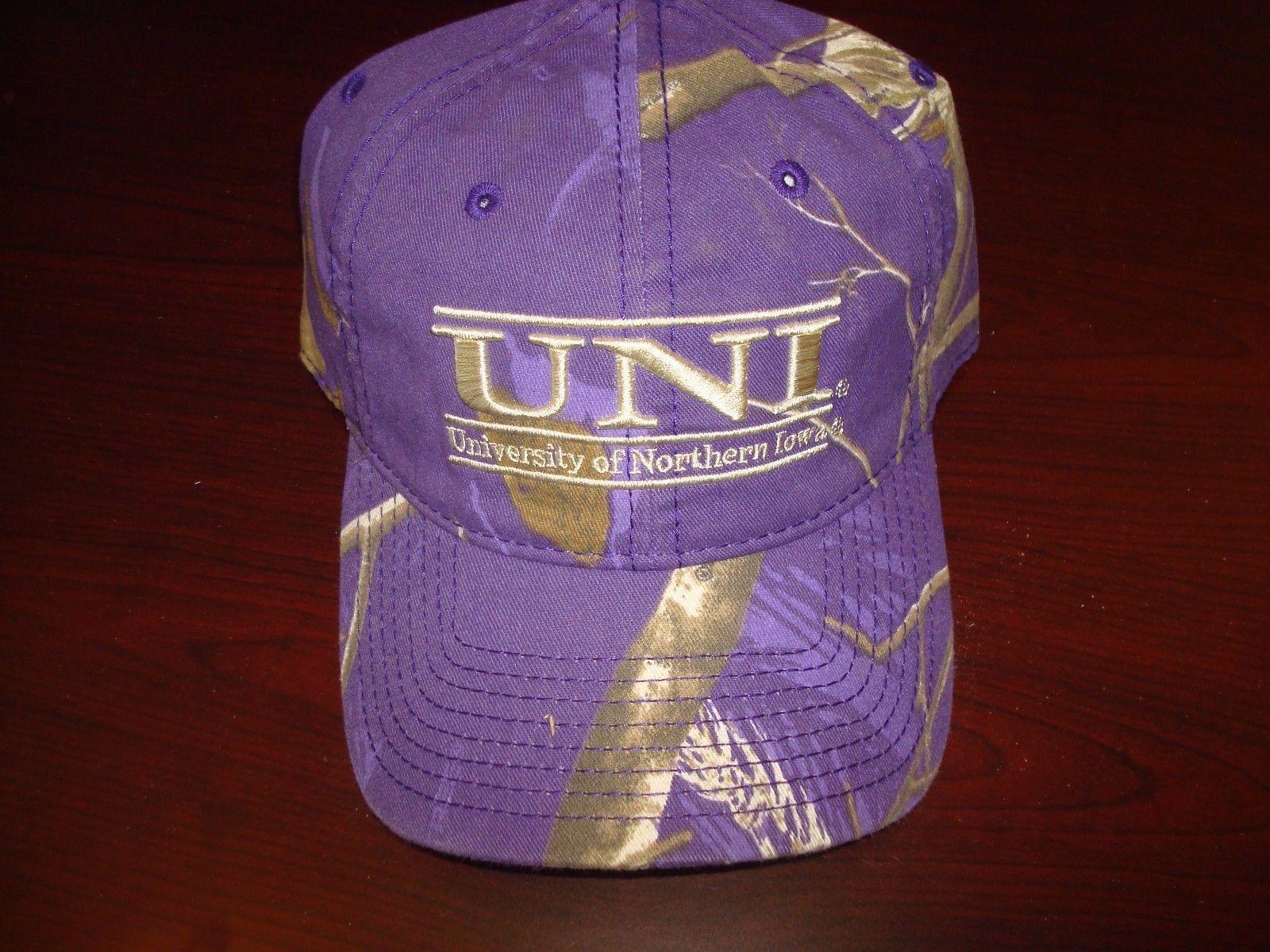 NORTHERN IOWA GAME -UNI-purple camo  THE GAME IOWA  HAT CAP ADJUSTABLE STRAP BACK 0f9908
