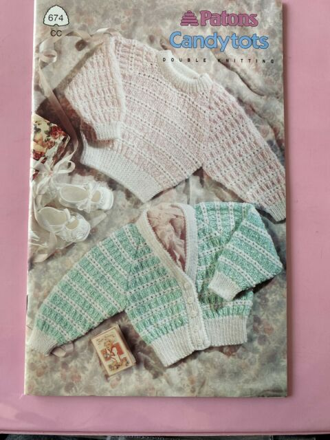 Patons Candytots Double Knitting Baby Patterns -Vintage ...