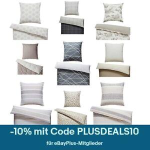 Bettwäsche 135x200 4tlg Renforcé 100% Baumwolle 2x Garnitur 80x80 Kissen