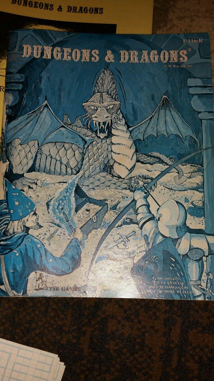 TSR D&D Dungeons & Dragons Basic Set 1st Printing, Lizard Lizard Lizard Logo, F115-R RARE 49212f