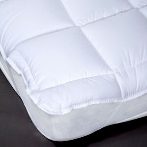 Luxury-Hollowfibre-Mattress-Topper-Single-Double-King-EXTRA-FILLED