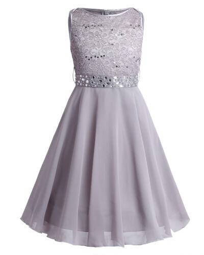 Mädchen Prinzessin Kleid Hochzeits Festzug Blumenmädchenkleid Kinder Kleidung