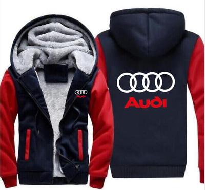 Warm padded audi hoodie jacket Cosplay sweater wool coat zipper team competition