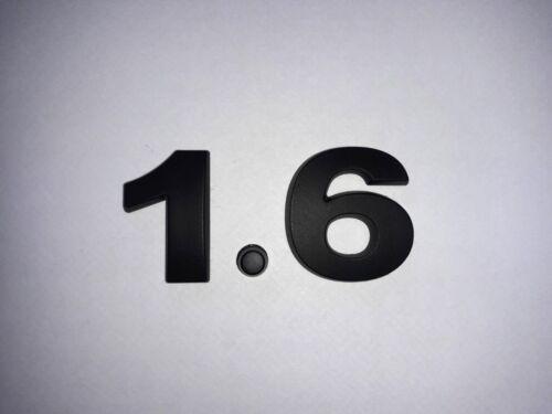 25mm BLACK 3D Self-adhesive Car Letter Numbers badge emblem sticker Spelling 1.6