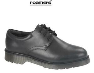 Boys School Shoes Leather Lace-up Black
