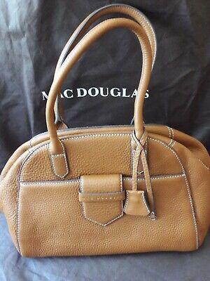 mac douglas sac à main toile & cuir marron tbe
