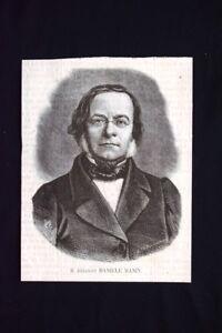 Il Dittatore Daniele Manin Incisione Del 1869