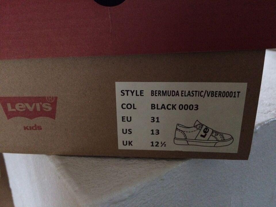 Sneakers, str. 31, Levis ( NYE) indvendig mål ca. 19,9 cm