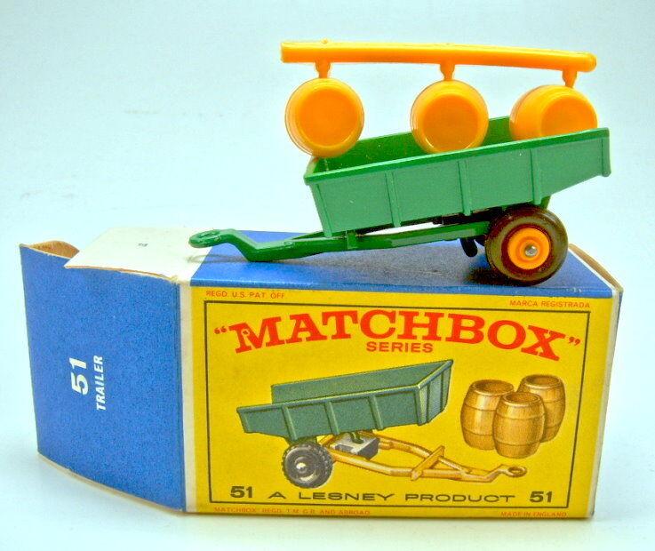 MATCHBOX RW 51b Tipping Trailer botti il giesast in  e1  BOX