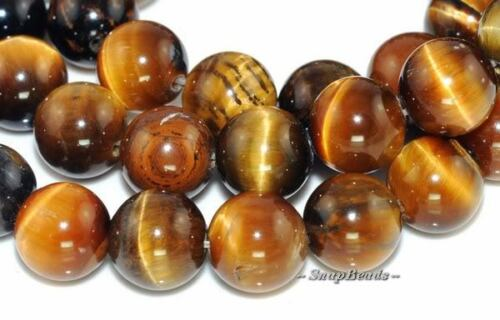 CHATOYANCE TIGER EYE GEMSTONE ROUND LOOSE BEADS 7.8/""