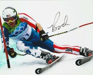BODE MILLER SIGNED USA OLYMPICS DOWNHILL SKIING 8x10 PHOTO #5 Autograph PROOF