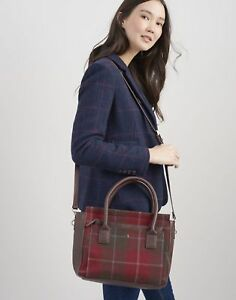 Joules Womens Day To Day Tweed Everyday Bag ONE in RED CHECK in One Size