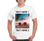Personalized Men/'s T-Shirts Photo /& Text Custom Print High Quality Image