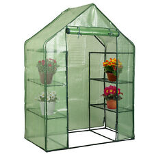 Delightful Portable Mini 8 Shelves Walk In Greenhouse Outdoor 4 Tier Green House New