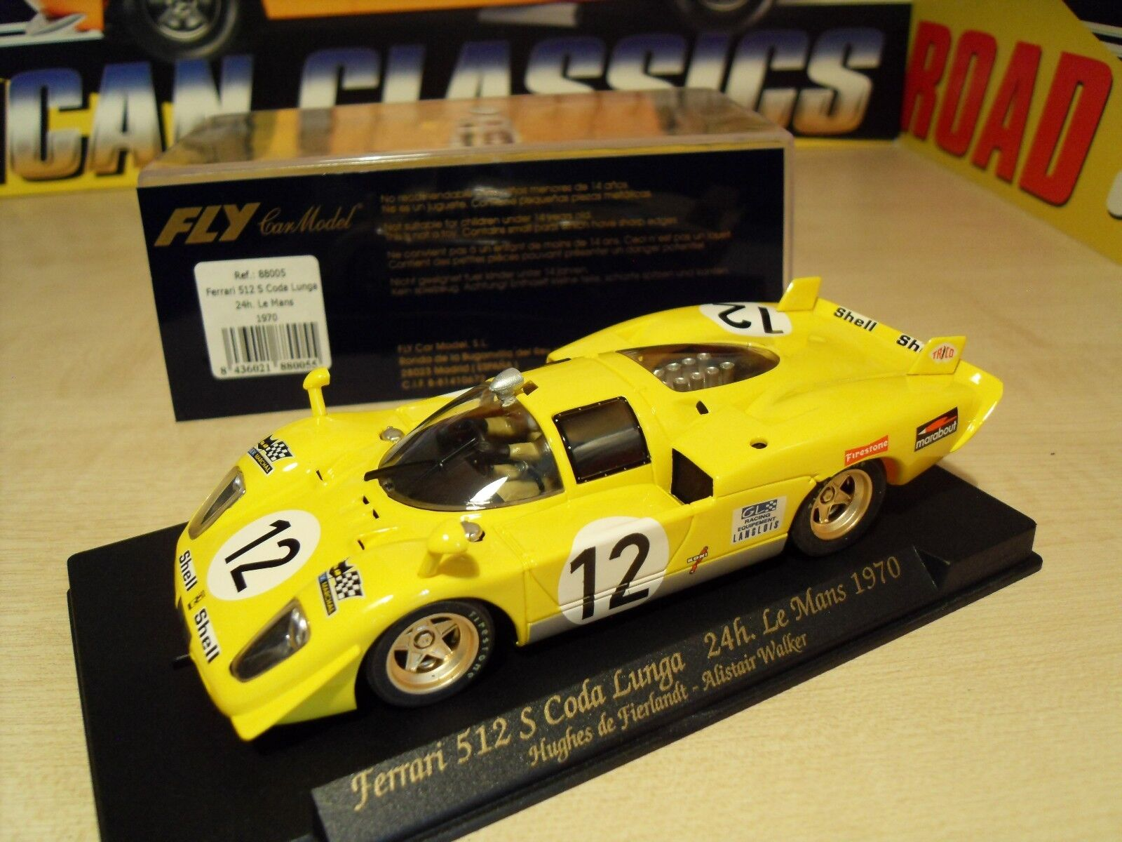 Fly '88005' - Ferrari 512S Coda Lunga '24h Le Mans 1970' - Brand New in Box