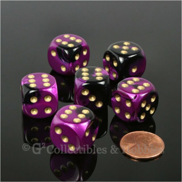 NEW 12 Pink w// Black Pips Dice /& Bag Set D/&D RPG Bunco Game D6 16mm 5//8 inch