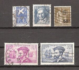 Timbres-France-obliteres-Annee-1934-complete