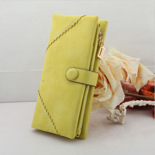 Hot Sale Women Fashion Leather Wallet Button Clutch Purse Lady Long Handbag Bag