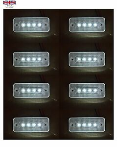 8X-12V-4SMD-LED-BLANCA-INTERMITENTE-LATERAL-LUCES-PARA-IVECO-DAF-MAN-SCANIA