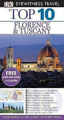 """AS NEW"" DK Eyewitness Top 10 Travel Guide: Florence & Tuscany, DK, Book"