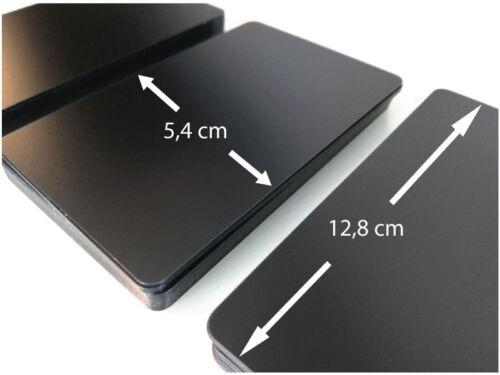 100 Plastikkarten Schwarz Matt extra lang 12,8 cmPreisschilderEtiketten